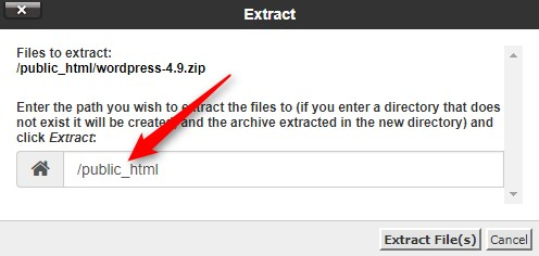 CPanel File Path Selection