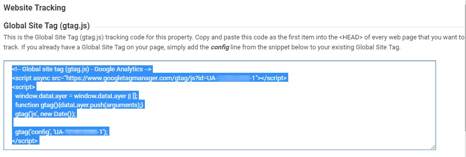 Global Site Tag Code Snippet