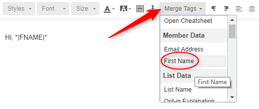 Personalizing Email in MailChimp