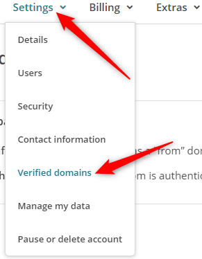 MailChimp Settings Menu